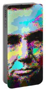 Abraham Lincoln Portrait - Abstract Portable Battery Charger