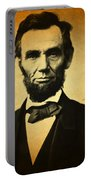 Abraham Lincoln Portrait And Signature Portable Battery Charger