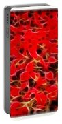 Abstract 124 Red Flowers Portable Battery Charger
