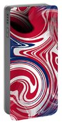Abstract American Flag Portable Battery Charger