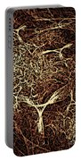 Abstract Angels Woodcut Portable Battery Charger