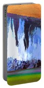 Abstract Arizona Mountains At Icy Dawn Portable Battery Charger