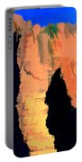 Abstract Arizona Mountains At Sunset Portable Battery Charger