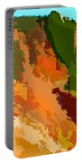 Abstract Arizona Mountains In The Afternoon  Portable Battery Charger