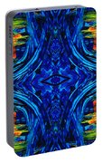 Abstract Art - Center Point - By Sharon Cummings Portable Battery Charger