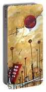 Abstract Art Cityscape Original Painting The Garden City By Madart Portable Battery Charger