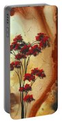 Abstract Art Colorful Original Landscape Painting Birds Aloft By Madart Portable Battery Charger