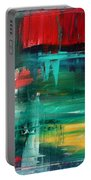 Abstract Art Colorful Original Painting Bold And Beautiful By Madart Portable Battery Charger