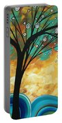 Abstract Art Contemporary Painting Summer Blooms By Madart Portable Battery Charger