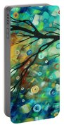Abstract Art Landscape Circles Painting A Secret Place 2 By Madart Portable Battery Charger