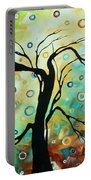 Abstract Art Landscape Circles Painting A Secret Place 3 By Madart Portable Battery Charger