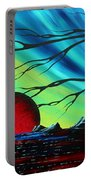 Abstract Art Landscape Seascape Bold Colorful Artwork Serenity By Madart Portable Battery Charger