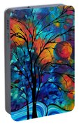 Abstract Art Landscape Tree Bold Colorful Painting A Secret Place By Madart Portable Battery Charger