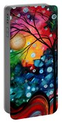 Abstract Art Landscape Tree Painting Brilliance In The Sky Madart Portable Battery Charger