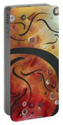 Abstract Art Original Circle Landscape By Madart Portable Battery Charger