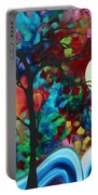 Abstract Art Original Enormous Bold Painting Essence Of The Earth I By Madart Portable Battery Charger by Megan Duncanson