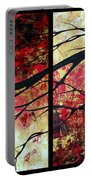 Abstract Art Original Landscape Painting Bring Me Home By Madart Portable Battery Charger by Megan Duncanson