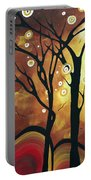 Abstract Art Original Landscape Painting Catch The Rising Sun By Madart Portable Battery Charger