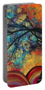 Abstract Art Original Landscape Painting Go Forth II By Madart Studios Portable Battery Charger