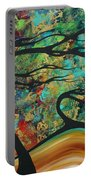 Abstract Art Original Landscape Wild Abandon By Madart Portable Battery Charger