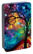 Abstract Art Original Painting Winter Cold By Madart Portable Battery Charger