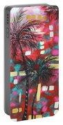 Abstract Art Original Tropical Landscape Painting Fun In The Tropics By Madart Portable Battery Charger by Megan Duncanson