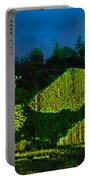 Abstract Art Projection Over Night Nature Scenery Portable Battery Charger