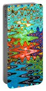Abstract Background With Bright Colored Waves 1 Portable Battery Charger