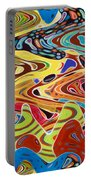 Abstract Background With Bright Colored Waves 17 Portable Battery Charger