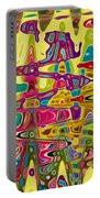 Abstract Background With Bright Colored Waves 5 Portable Battery Charger