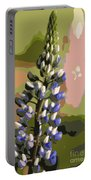 Abstract Blue Lupine Portable Battery Charger