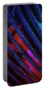Abstract Blue Red Green Blur Portable Battery Charger