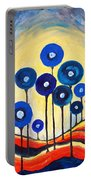 Abstract Blue Symphony  Portable Battery Charger