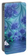 Abstract Blue World Portable Battery Charger