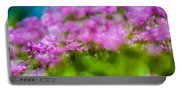 abstract Blurry pink flower background for backgrounds Portable Battery Charger