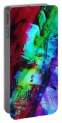 Abstract Bold Colors Portable Battery Charger by Andrea Anderegg