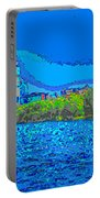 Abstract Boston Skyline Portable Battery Charger