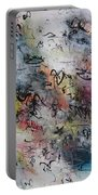 Abstract Butterfly Dragonfly Painting Portable Battery Charger