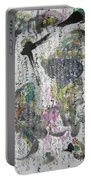 Abstract Calligraphy Art Painting Black Pink Green Gray Art Spring Color Painting Rice Paper Art Sjk Portable Battery Charger