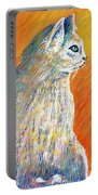 Jazzy Abstract Cat Portable Battery Charger