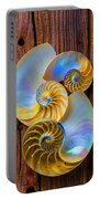 Abstract Chambered Nautilus Portable Battery Charger