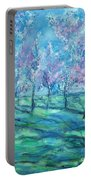 Abstract Cherry Trees Portable Battery Charger