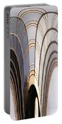 Abstract Chicago Sunrays On Trump Tower Portable Battery Charger