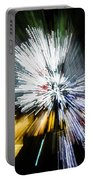 Abstract Christmas Lights - Burst Of Colors Portable Battery Charger