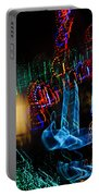 Abstract Christmas Lights - Color Twists And Swirls  Portable Battery Charger