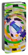Abstract Circles Portable Battery Charger