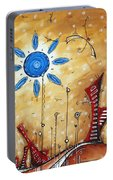 Abstract City Cityscape Contemporary Art Original Painting The Lost City By Madart Portable Battery Charger