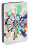 Abstract Color Wheel Portable Battery Charger