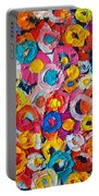 Abstract Colorful Flowers 1 - Paint Joy Series Portable Battery Charger