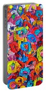 Abstract Colorful Flowers 3 - Paint Joy Series Portable Battery Charger